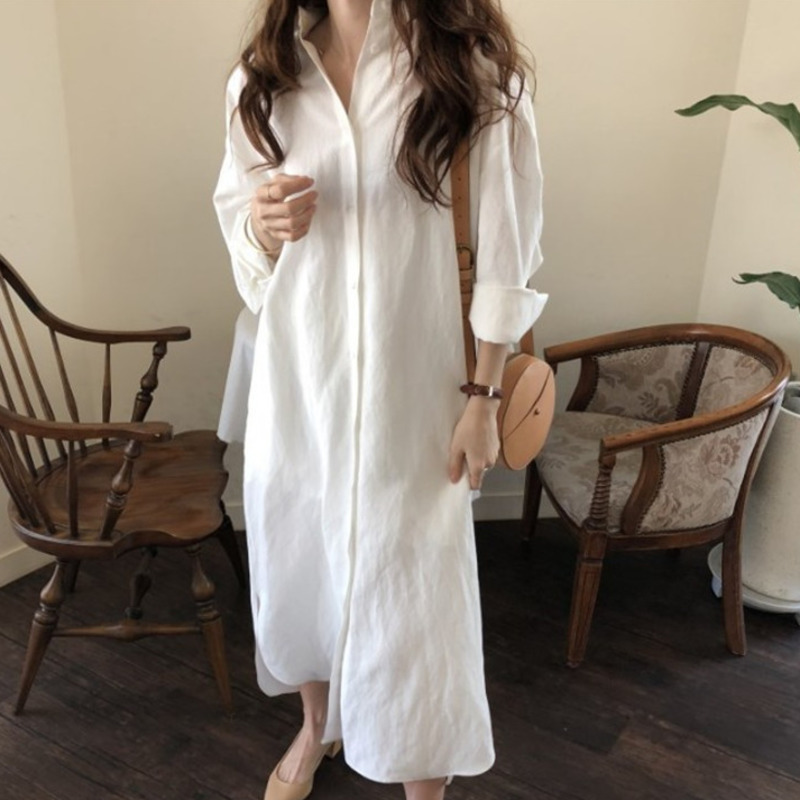 7884d6b01b10 Comprar LANMREM Nueva Moda De Cuello Camisa Tipo Vestido ...