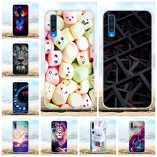 For Samsung Galaxy A50 Case Soft TPU Silicone SM-A505F Cover Candy Patterned Capa