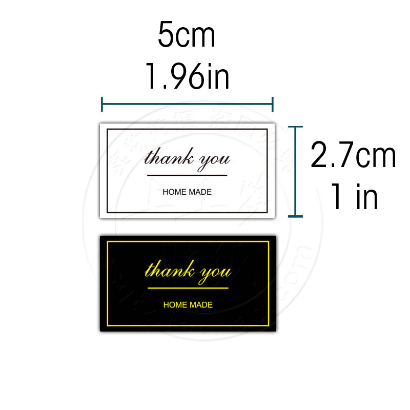 60 Pcs thank you sticker self adhesive wedding Gilding home made Baking Package stickers gift wrapping home party custom 5x2 7cm in Party DIY Decorations from Home Garden