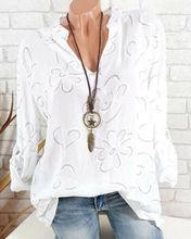 Women T-shirt 2019 Hot Sale Summer Soft Long Sleeve T-shirt V Neck Casual Loose Tops Shirt  Bohemian Party T-shirt Plus Size