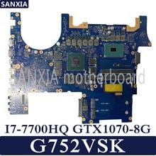 KEFU G752VSK Laptop motherboard for ASUS ROG G752VSK original mainboard CM236 I7 7700HQ GTX1070 8G