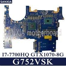 Kefu Материнская плата ноутбука для ASUS ROG G752VSK тест оригинальная материнская плата CM236 I7-7700HQ GTX1070-8G