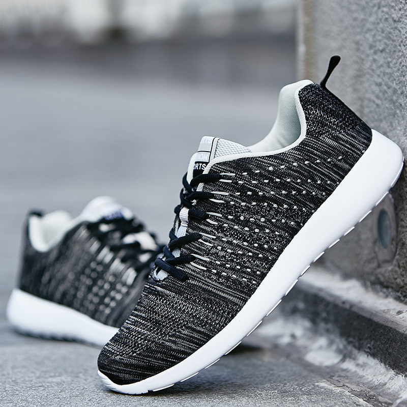 2018 Fashion Sneakers For Men Shoes Spring Summer Comfortable Breathable Lace-UP Casual Shoes Footwear size 39-46