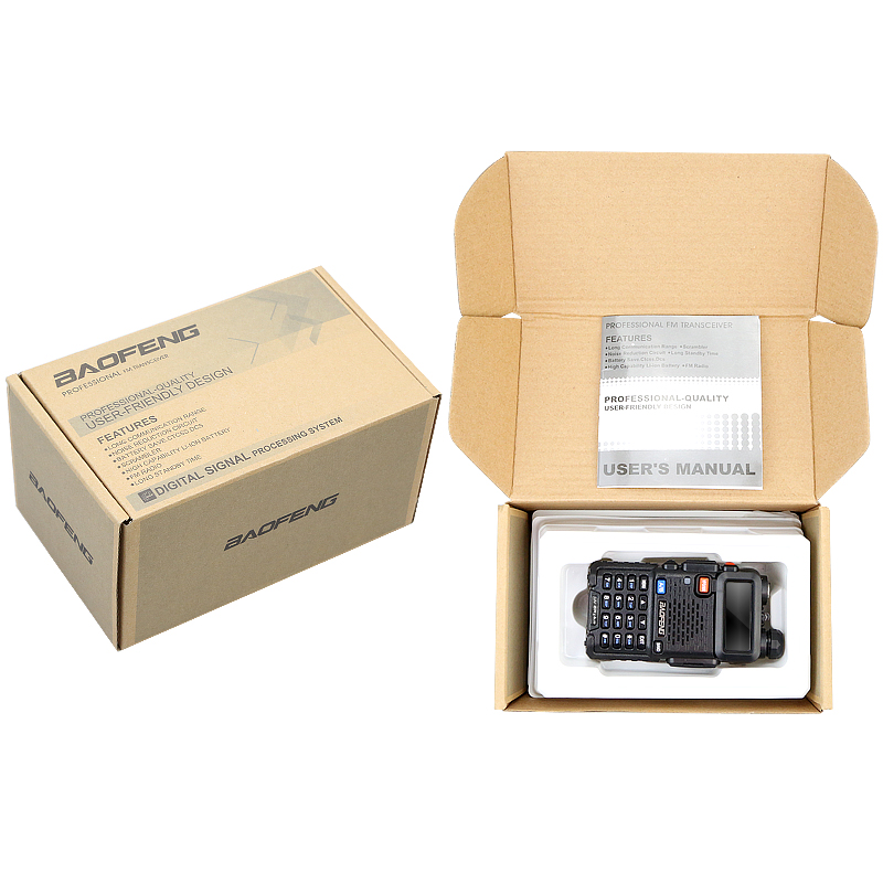 Купить с кэшбэком 2PCS Original BAOFENG Baofeng UV-5R PLUS 8W High Power VHF/UHF 136-174/400-520MHz Dual Band FM True Two-way Ham Walkie Talkie