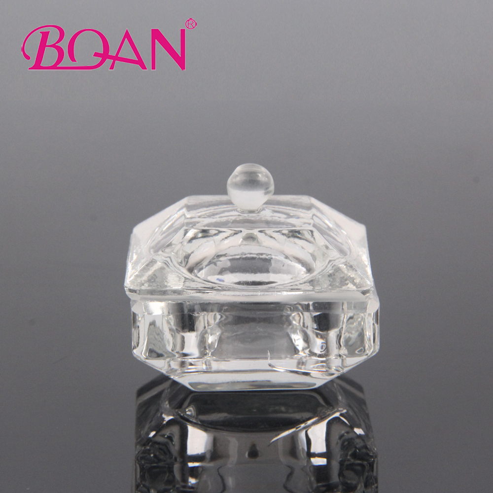 Square Clear Crystal Glass Dappen Dish Bowl Cup With Lid Nail Art Tools Acrylic Liquid Glitter Powder Mini Bowl Cups ceramic glass dappen dish bowl cup with wood lid nail art tools acrylic liquid glitter powder bottle