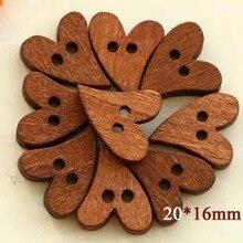 50 шт./лот деревянные пуговицы с милым сердцем, деревянные пуговицы с мультяшными рисунками, деревянные пуговицы(SS-1747