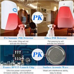Image 3 - JeaTone Sem Fio Pet Imune PIR Sensor De Movimento Detector 433 Mhz Home Security Motion Sensor Infravermelho Detector Para Sistema De Alarme