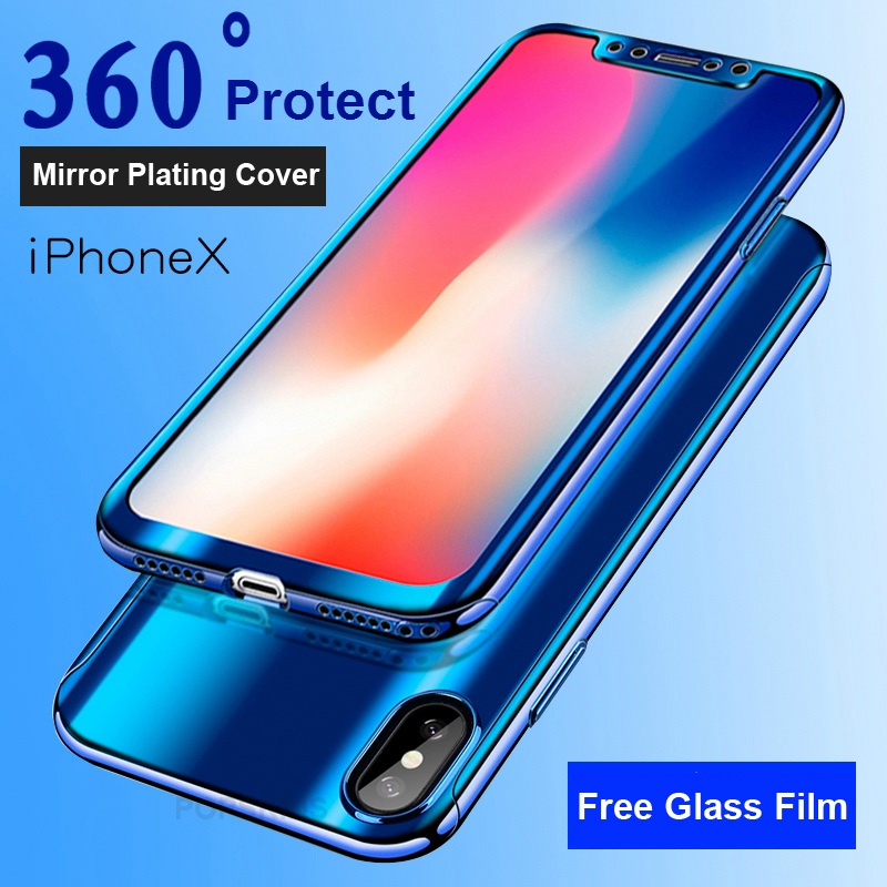 New Fashion Voongson Slim Armor 360 Full Protection Case For Iphone X 8 6s 6 7 Plus Case Cover Coque I6 I7 8 Plus Phone Cases Matte Fundas Clothes, Shoes & Accessories
