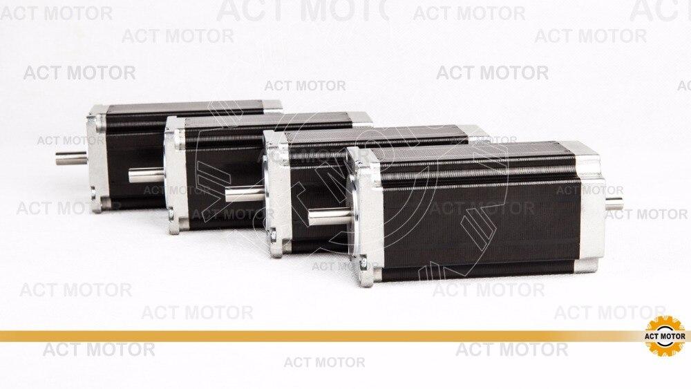 3 aixs dual shaft ,  8MM, 4-LEAD nema 23 stepper motor 112mm/ 3A/ 425oz-in платье rinascimento rinascimento ri005ewvtv74