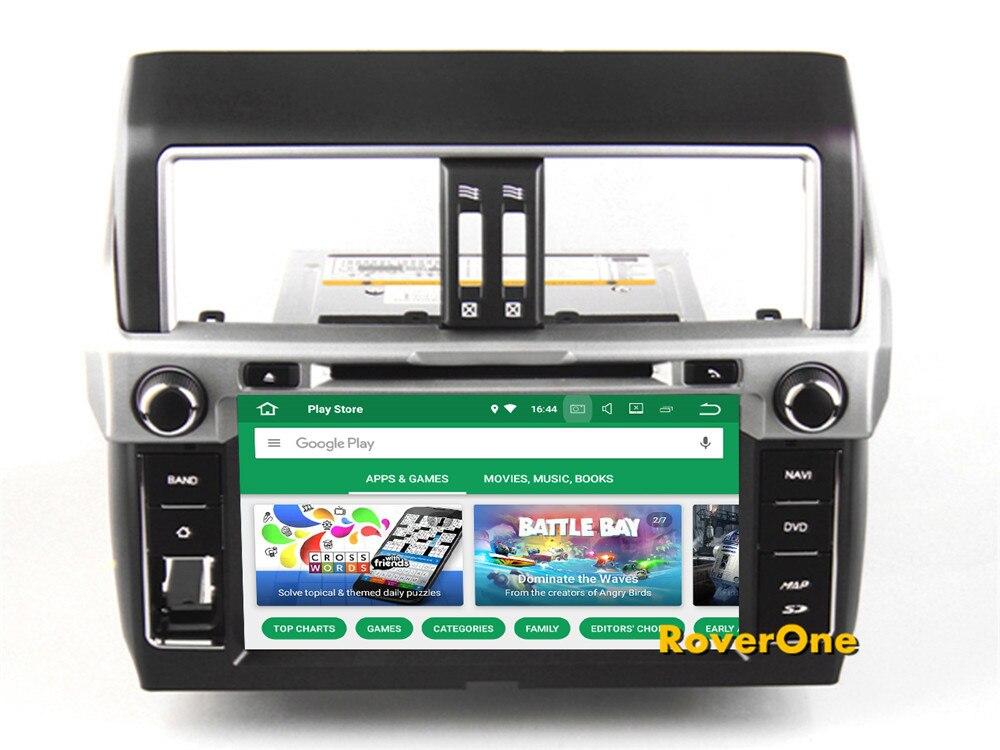 RoverOne Per Toyota Prado 150 2014 + Android 8.0 Autoradio di Navigazione GPS Per Auto Multimediale DVD Player Radio Stereo Bluetooth Testa unità