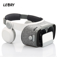 LEORY 3D VR Glasses Virtual Reality RC Headset Cardboard VR With Remote Controller For iOS For Android Daydream Smartphone