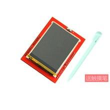 10 sztuk nowy 2.4 cal ekran dotykowy TFT LCD z ekranem dotykowym wyświetlacz z czytnik kart TF do Mega2560 UNO R3 pokładzie ili9341 driver 320x240 z rysikiem