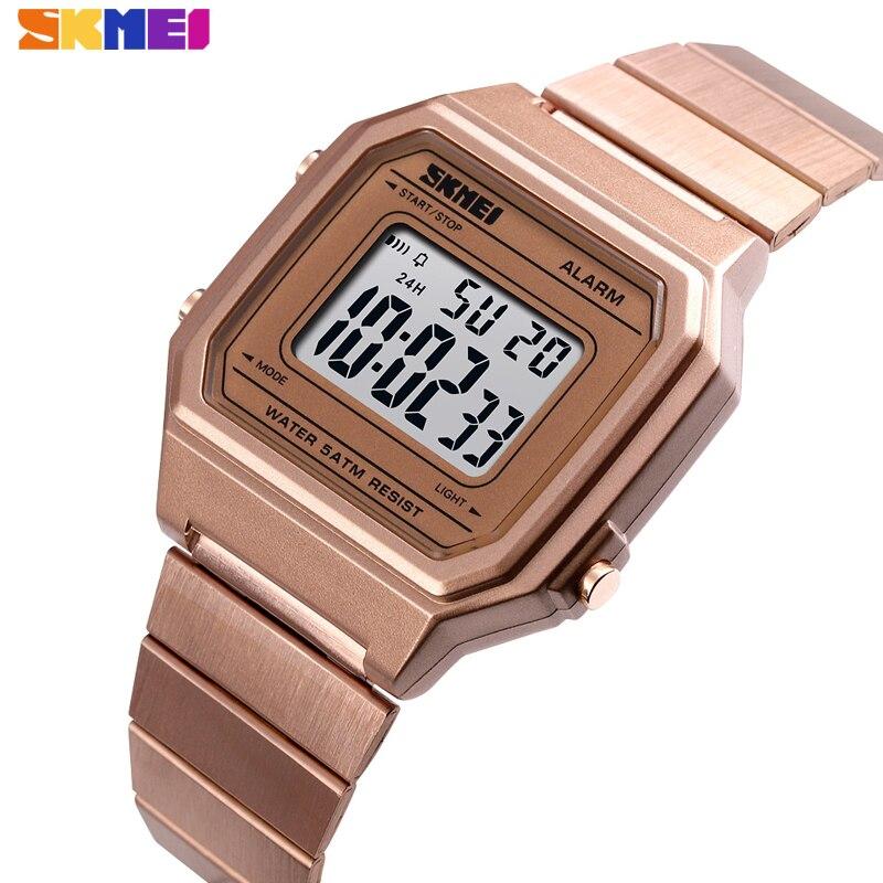 Digitale Uhren Skmei Marke Herren Uhr Stoppuhr Chronograph Wasserdichte Sport Uhren Luxus Zurück Licht Led Digital Armbanduhr Wecker 2019 Hitze Und Durst Lindern.