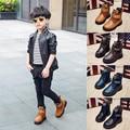 Теплые ботинки из натуральной кожи для мальчиков  удобные повседневные ботинки для осени и зимы  2019