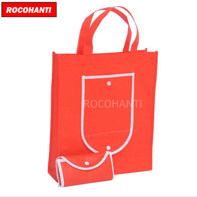 ccc3d775f4 100x Non-Woven Foldable Tote Bag Non Woven Bag with Pocket Design Customized  LOOG Printing Accept 30*35*8CM