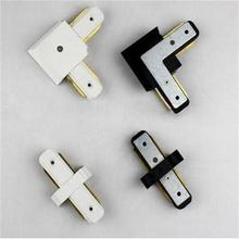 2 peice I L Shape Track Connector Rail Adapter Linker Aluminum Tracking Accessory Track Light Install Spot Lamp Track Connectors