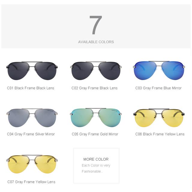 Mens Aluminum Alloy Frame Sunglasses