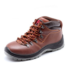 new arrive men's big size steel toe caps work safety shoes spring autumn cow leather outdoors hiking tooling ankle boots protect