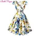 Belle poque summer dress mulheres 2017 pin up floral das mulheres vestidos de Festa Retro Ocasional robe ete Rockabilly 60 s 50 s Do Vintage vestidos