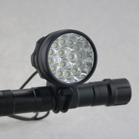 Wiederaufladbare 15T6 25000 Lumen Fahrradlicht Scheinwerfer 15 xCree XML T6 Led scheinwerfer Rennrad Frontleuchte Fahrrad Zubehör-in Fahrradlicht aus Sport und Unterhaltung bei