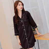 Modal Nightgowns Soft Home Dress Sexy Nightwear Women Sleepwear Solid Sleep Lounge Vintage Nightgown Female Women Sleepwear