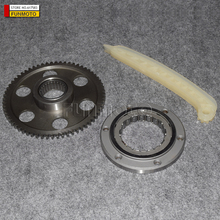 GEAR/OVERRIDING CLUTCH/ONE WAING BEARING/ TENSION PLATE OF HISUN 800 ENGINE/HS800/BRP 800 ATV PARTS CODE IS 31250-010-0000