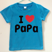 I Love Papa Mama Baby Children' Clothing T-shirts For Girls Boys Kids Children Clothes For Summer Style Tops Brand T shirts