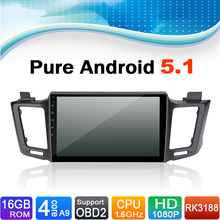 Pure Android 5.1.1 System Car DVD GPS Navigation System for Toyota RAV4 2013-2015