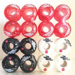 Image 2 - Бесплатная доставка Pro OMG мягкие скейтборд колеса 54mm85A для двойной рокер Скейтбординг грузовики Rodas de скейт колеса черный/белый/красный