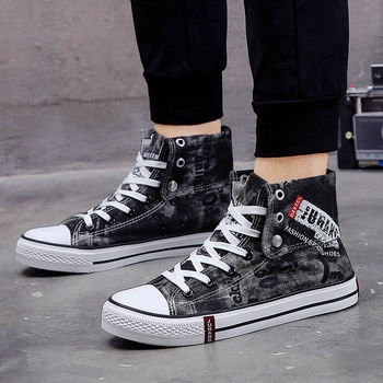 código promocional 53c85 75cf6 Zapatillas altas de moda transpirables para Hombre, zapatos vulcanizados  para Hombre, zapatos con cordones, zapatillas deportivas, zapatillas ...