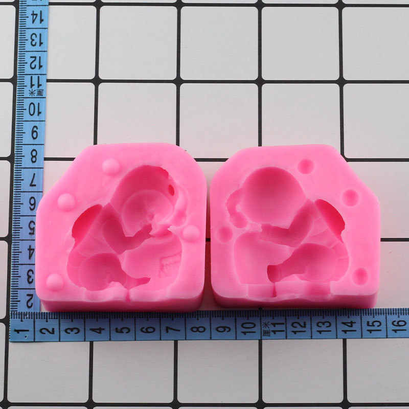 3D Sleeping Baby Bee Cake Fondant Molds Silicone Mold Soap Candle Moulds Sugar DIY Baking Tool