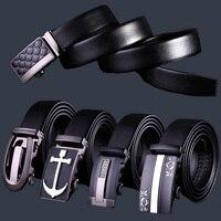 Europen Style Fashion Men S Genuine Leather Cowhide Belt Luxury Brand Gentleman Business Belt Classical Black