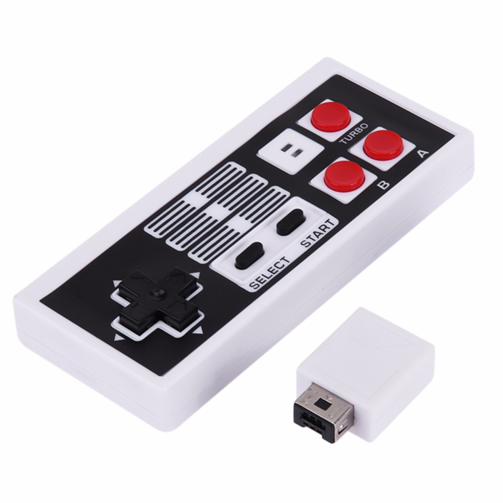 Mini Rechargeable Game Joystick Wireless USB Plug and Play Gaming Controller Gamepad for Nintendo NS for NES Classic Edition