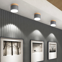 Modern Ceiling Lights Nordic Iron+wood Ceiling Lamp for Living Room Bedroom Kids Room Aisle Corridor LED Spot Light Home Fixture
