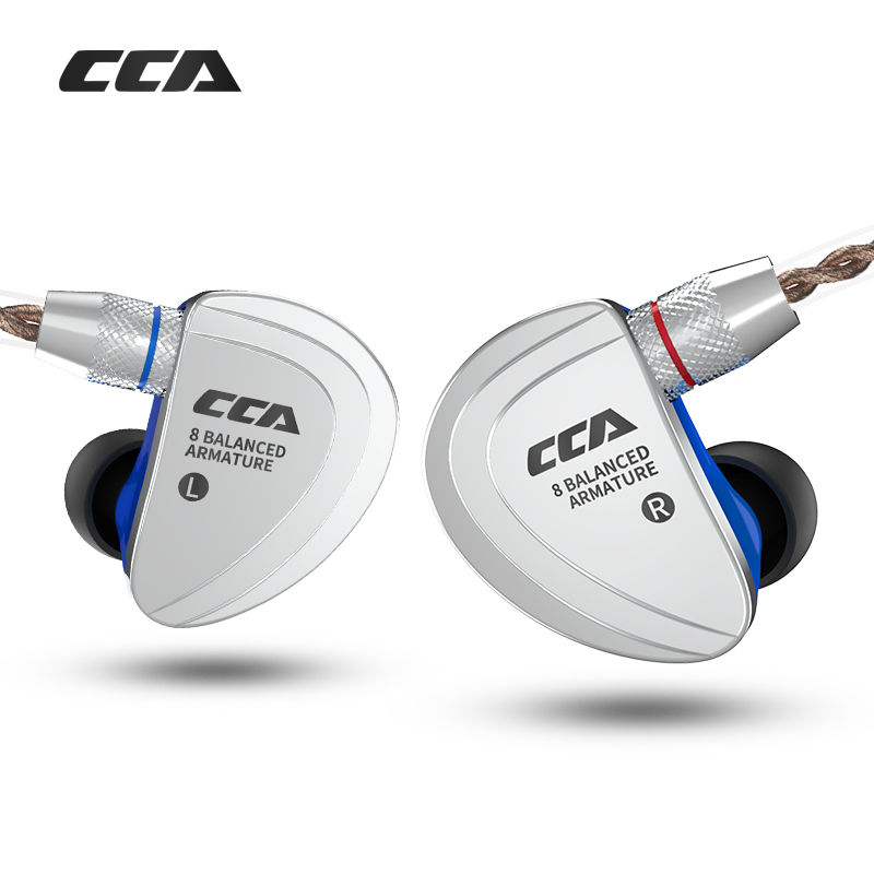 CCA C16 8BA Drive Units In Ear Earphone 8 Balanced Armature HIFI Monitoring Earphone Headset With Noise Cancelling Earbuds in Phone Earphones Headphones from Consumer Electronics