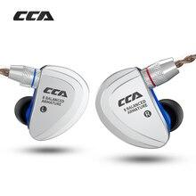 Внутриканальные наушники CCA C16 8BA, сбалансированные hi fi наушники с монитором, с шумоподавлением