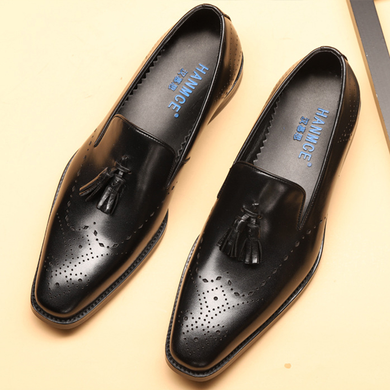 Mens formal shoes leather men dress oxford shoes for men dressing wedding business office shoes tassel male zapatos de hombre