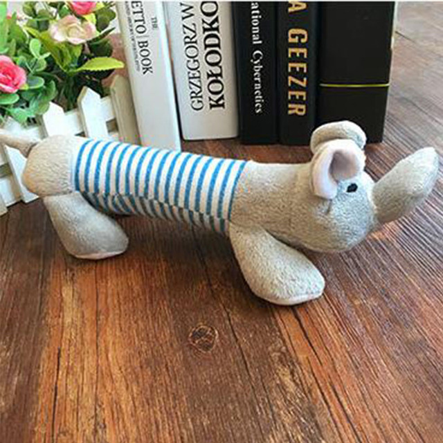 Popular Pet Dog Cat Funny Fleece Durability Plush Dog Toys Squeak Chew Sound Toy Fit for All Pets Elephant Duck Pig Plush Toys 4