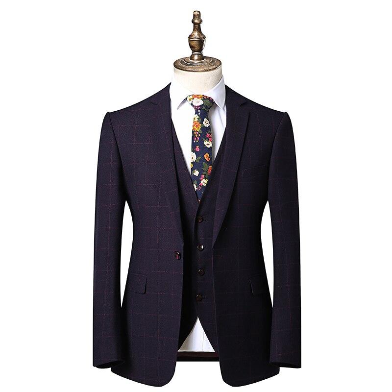 La Costume D'affaires Britannique Convenant Garniture Gilet Rouge Style Travail Pour Qualité De Mariage Pantalon Le Marié veste Robe Hommes Haute Costume TOYxU8wqw
