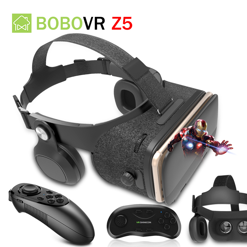 Original BOBOVR Z4 Update Z5 VR 3D Box Helmet Virtual Reality Glasses Smartphone VR Headset for Android 4.7-6.2''In Mobile Phone