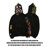 Bape shark hoodie sweatshirt European and American Tide brand bathing ape