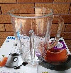 Oryginalny produkt blender jar szklanka do soku kubki nadaje się do części blendera philips HR2095 HR2096 HR2195 HR2196 w Części do sokowników od AGD na