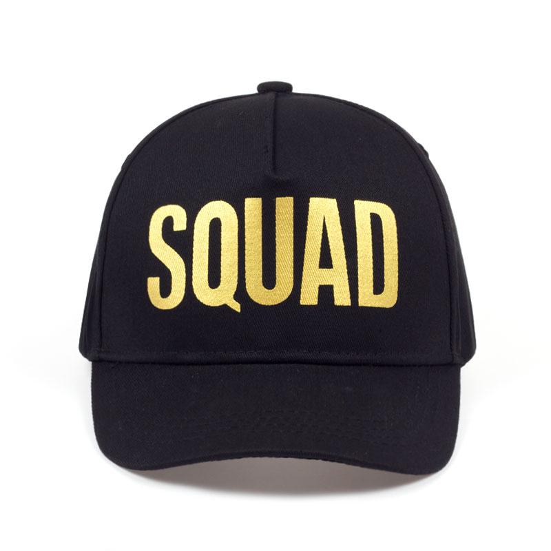 0f41ed562b2e9 Golden Print BRIDE SQUAD Baseball Cap Bachelor Party Hats Women Wedding  Preparewear White Black Hip Hop Summer Caps Lovers Hat-in Baseball Caps  from Men s ...