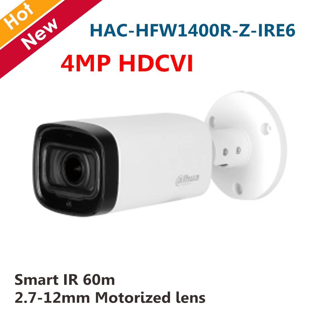 Dahua 4MP HDCVI Camera Smart IR Bullet Camera 2.7 12mm Motorized lens IP67 Outdoor Waterproof Video camera Security camera