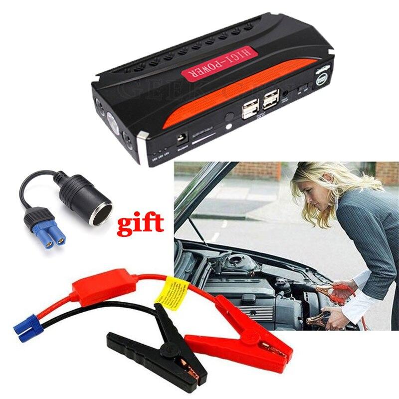 Notfall Auto Starthilfe Startvorrichtung 600A 12 V Energienbank LED Leichtere Auto-ladegerät Für Autobatterie Booster Buster benzin
