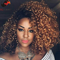 2016 new arrival 180% density kinky curly two tone human hair wigs #1b/30 ombre lace front wigs mongolian human hair lace wigs