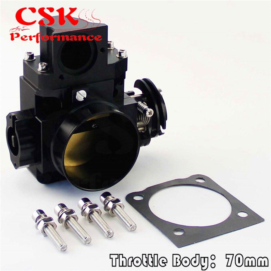 70mm Throttle Body for Mitsubishi EVO7 EVO8 EVO9 4G63 03 07 EVO 7 8 9 BLACK