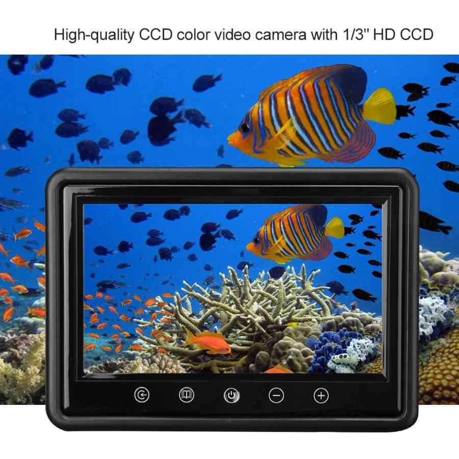 """9 """"تحت الماء صياد السمك فيديو كاميرا للماء عموم الدورية الصيد كاميرا مع 50m كابل"""