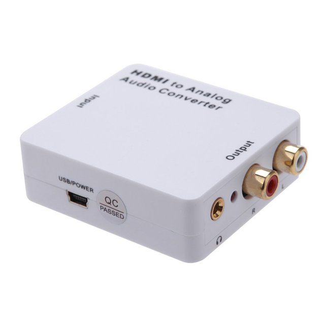 CES-HDMI Input to R/L Analog Audio Output Convertor Signal Digital Adapter
