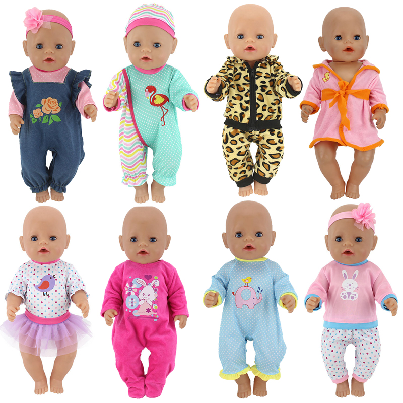 """Doll Outfit Set For 18 Inch Baby Dolls Clothes For 18"""" 43cm Bebe New Born Doll Accessory Baby Girl Gifts"""